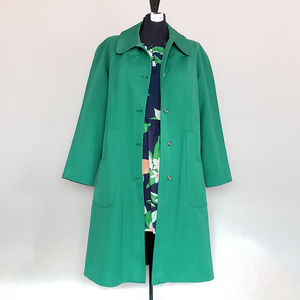 Vintage Kelly Green Amazing Trenchcoat!